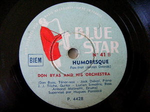DON BYAS Blue Star 41 JAZZ 78rpm HUMORESQUE/I CAN'T EXPLAIN