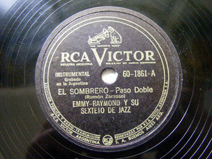 EMMY RAYMOND Y SU 6to VICTOR 601861 JAZZ 78rpm MAÑANA