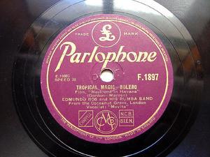 EDMUNDO ROS Parlophone F1897 LATIN 78rpm TROPICAL MAGIC