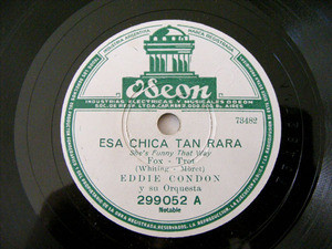 EDDIE CONDON Odeon 299052 78rpm SHE'S FUNNY THAT WAY