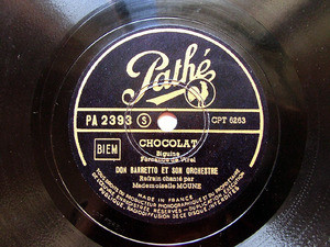 DON BARRETO Pathe PA-2393 JAZZ 78rpm P'TIT CORNE