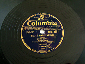 DINAH SHORE Columbia 2751 JAZZ 78rpm PLAY A SIMPLE
