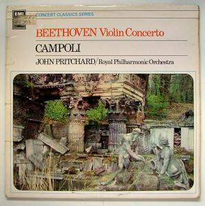 CAMPOLI & PRITCHARD hmv SXLP 20043 BEETHOVEN LP