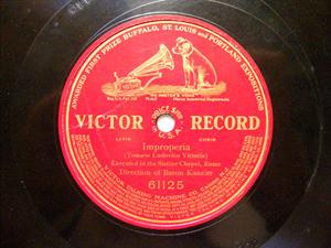 BARON KANZLER cond Rare VICTOR 61125 LATIN CHOIR 78rpm