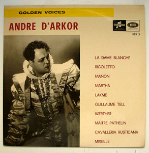 ANDRE D'ARKOR Columbia RSX 3 GOLDEN VOICES LP 1968