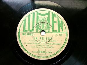 GERMAINE CERNAY & GEBRON Lumen 30085 French OPERA 78rpm