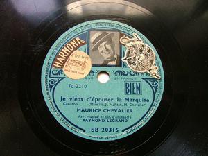 MAURICE CHEVALIER Harmonic SB20315 FRANCE 78rpm TUEUR AFFAME