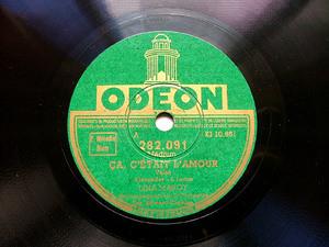 LINA MARGY Odeon 282091 FRANCE 78rpm CA C'ETAIT L'AMOUR