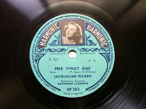 JACQUELINE RICARD & LEGRAND Harmonic SF262 FRANCE 78rpm