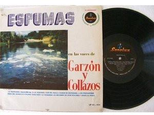 GARZON Y COLLAZOS Espumas SONOLUX LP-12 Rare COLOMBIA FOLK LP