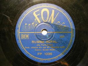 GUIDO ROSSI Fon 1036 FLEXI DISC 78rpm RUMBA ROYAL / MA PERCHE