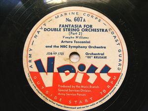 TOSCANINI V-Disc 607 OVERTURE TO FAIRY TALE