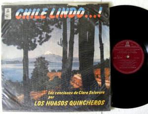 LOS HUASOS QUINCHEROS Chile Lindo ODEON 36649 Chilean Folk LP 1968
