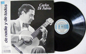 CARLOS DI FULVIO De Nadie GISMONDI 33033 Arg LP 1985