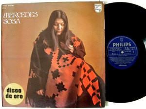 MERCEDES SOSA Disco De Oro PHILIPS 47208 Spain LP 1975