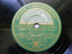 DUKE ELLINGTON Gramophone 32 JAZZ 78 CHLOE / ACROSS THE TRACK BLUES