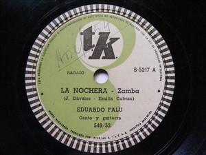 EDUARDO FALU Tk 5217 GUITAR 78 LA NOCHERA / EL ALGARROBO