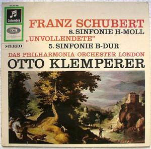 KLEMPERER Col STC 91306 (SAX 2514) SCHUBERTS Sin 5/8 LP