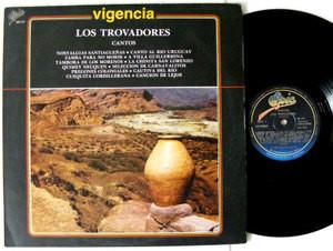 LOS TROVADORES Cantos EPIC 80177 ARGENTINA FOLK LP 1982 NM