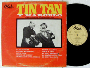 TIN TAN Y MARCELO Canciones Rancheras Okeh 10045 MEXICO LP 1964