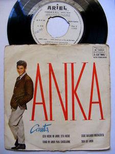 "Rare 7"" PAUL ANKA Canta ARIEL 518 ARGENTINA EP PS"