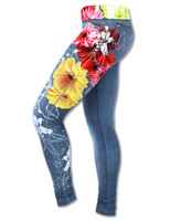 INKnBURN Wildflower Running and Yoga Tights or Leggings