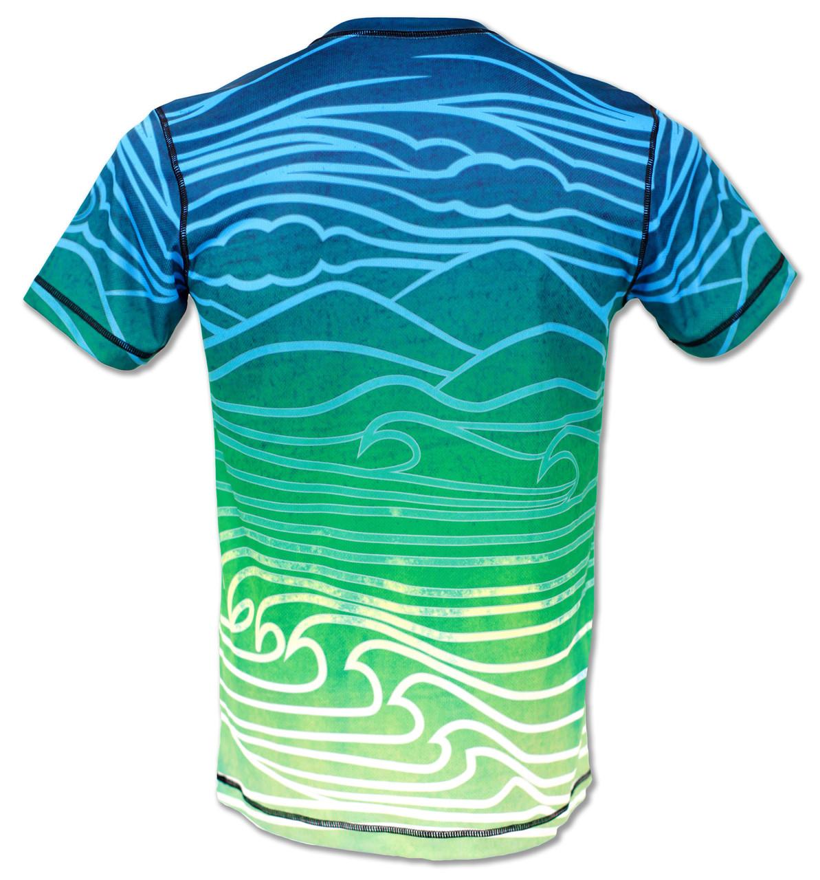 INKnBURN Mens Athletic Shirt Flow - Back