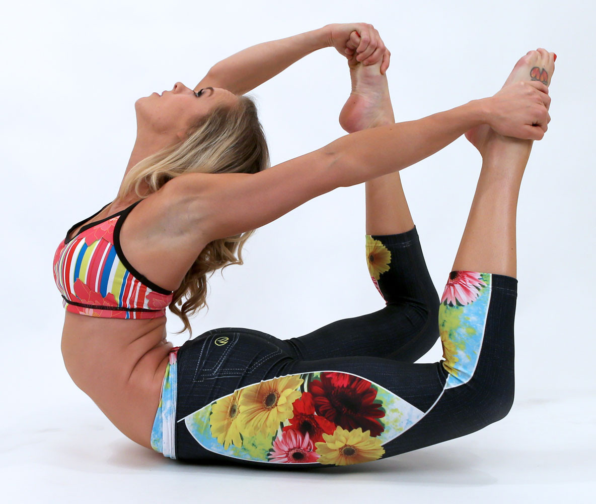 INKnBURN Wildflower Capris & Paeon Sports Bra perfect for Running, Yoga, Cross Fit, and Working Out!