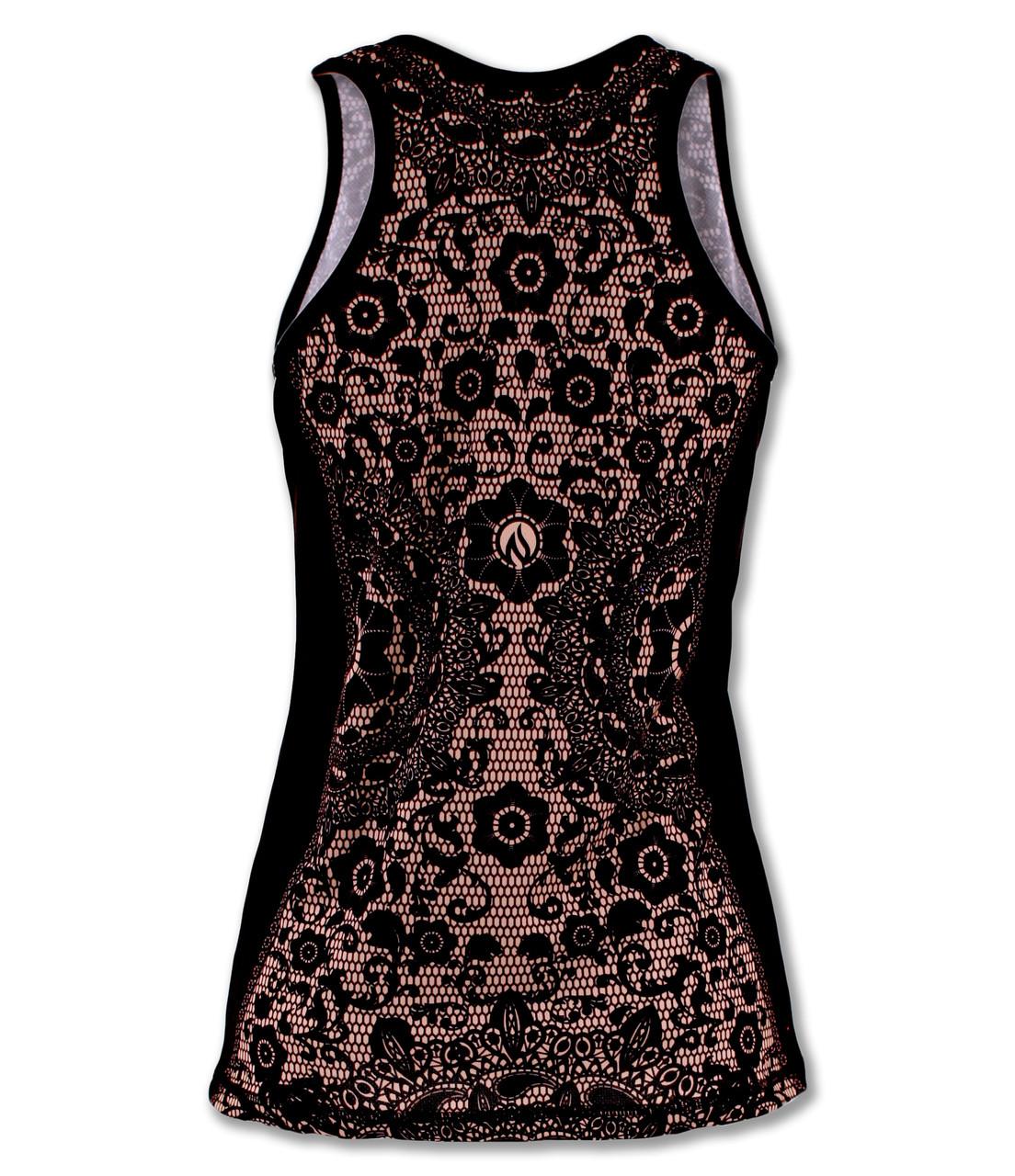 INKnBURN Women's Singelt or Tank Top Black Lace Back