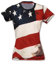 NKnBURN Women's Patriot Tech Shirt Front