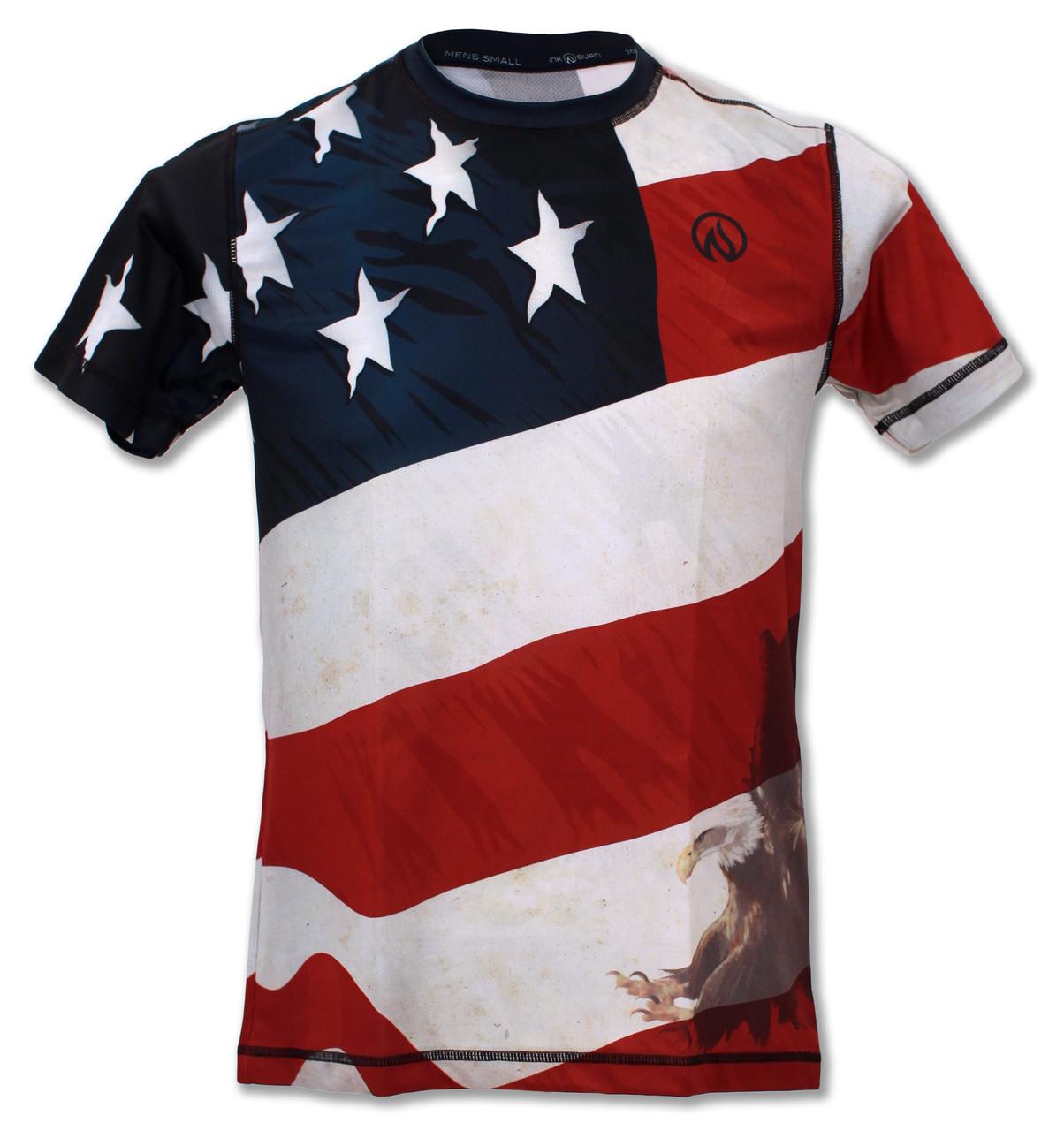 INKnBURN Men's Patriot Tech Shirt Front