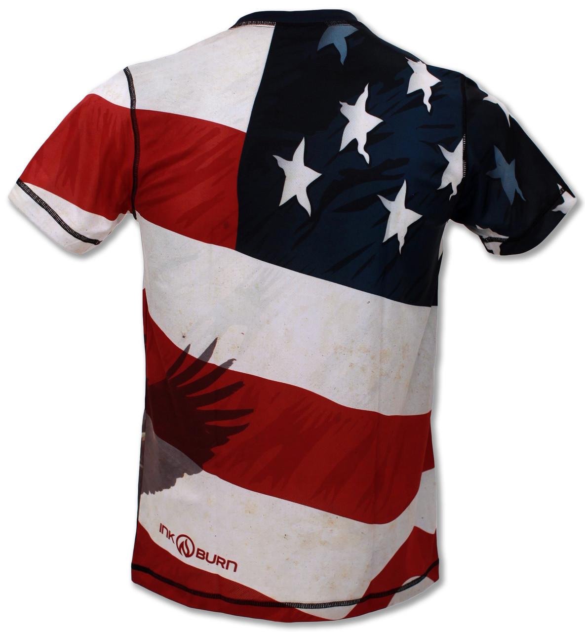 INKnBURN Men's Patriot Tech Shirt Back