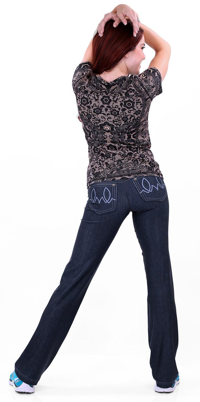 INKnBURN 210 Denim Pants with Black Lace Tech Shirt Back