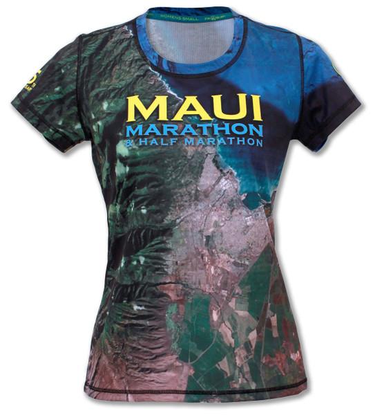 INKnBURN Women's Maui Marathon Tech Shirt Front