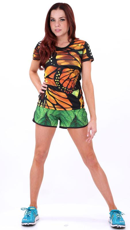 Women's Monarch Tech Shirt with Leaf Shorts