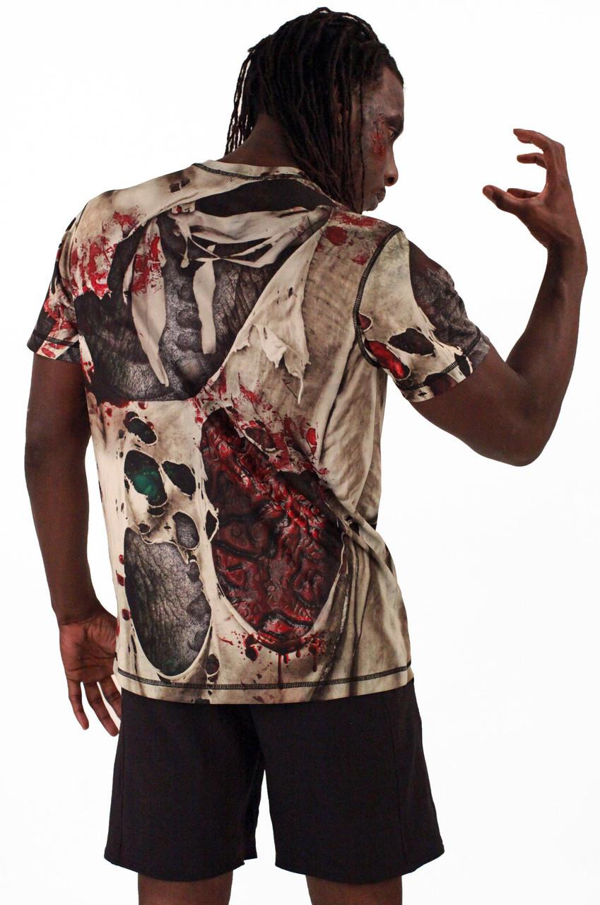 INKnBURN Men's Zombie Tech Shirt Back