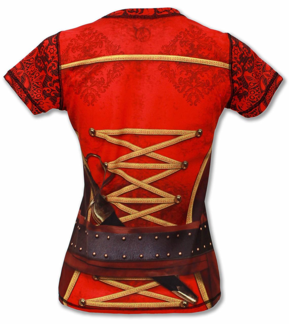 INKnBURN Women's Pirate Tech Shirt Back