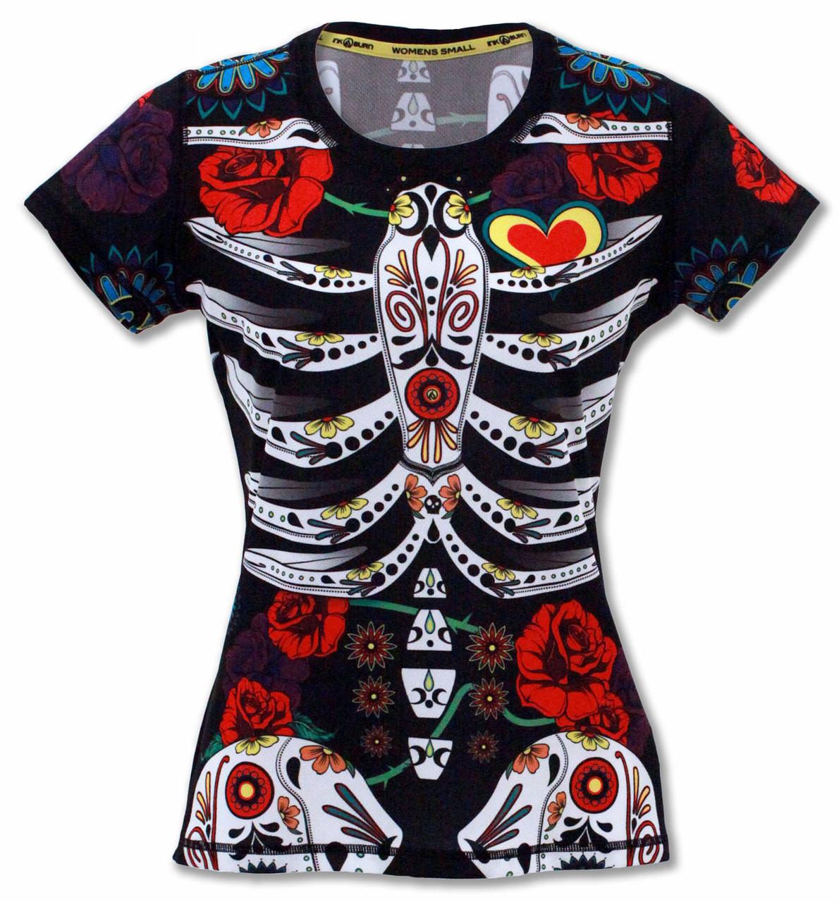 INKnBURN Women's Calavera Tech Shirt Front