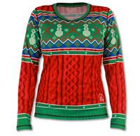 Women's 2015 Holiday Sweater Long Sleeve Tech Shirt Front