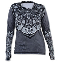 INKnBURN Women's Healing Mandala Pullover with Thumb Holes Front