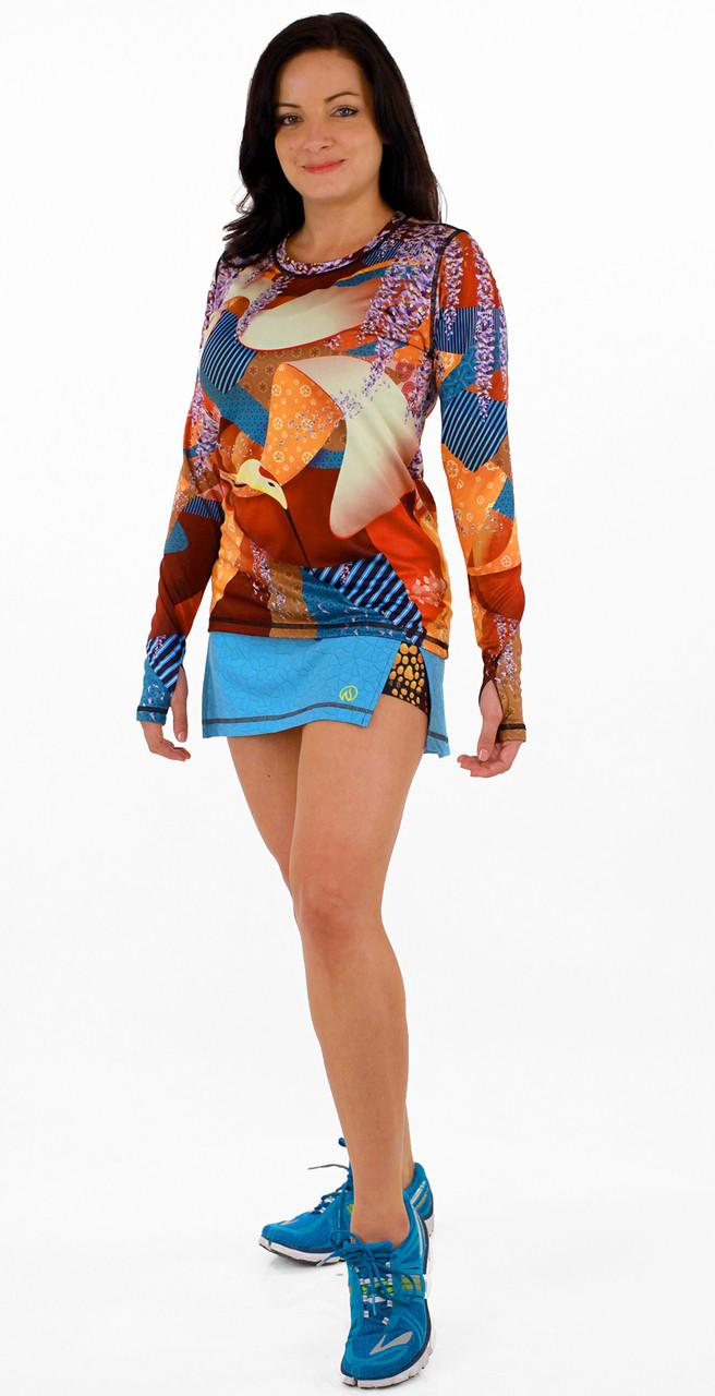 INKnBURN Women's Crane Pullover with Chameleon Skirt