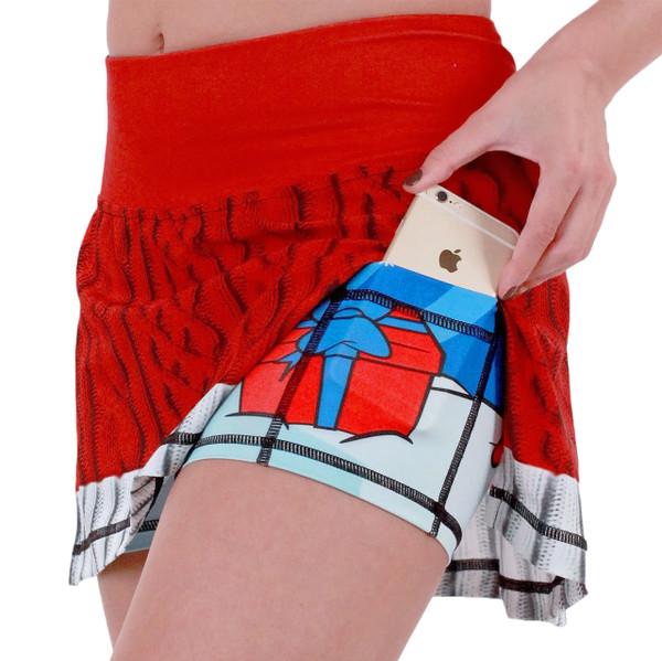 INKnBURN Women's Sport Skirt Showing Thigh Pockets