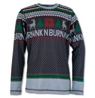 INKnBURN Boy's Wonderland Holiday Sweater Tech Shirt