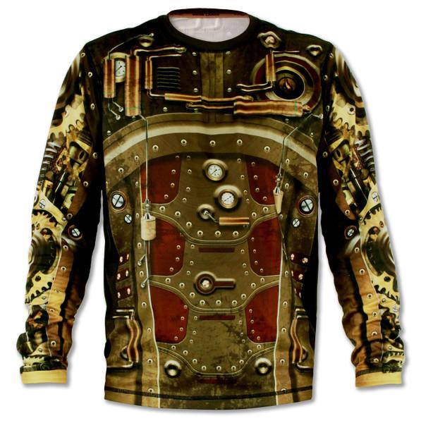 INKnBURN Men's Steampunk Long Sleeve Tech Shirt Front