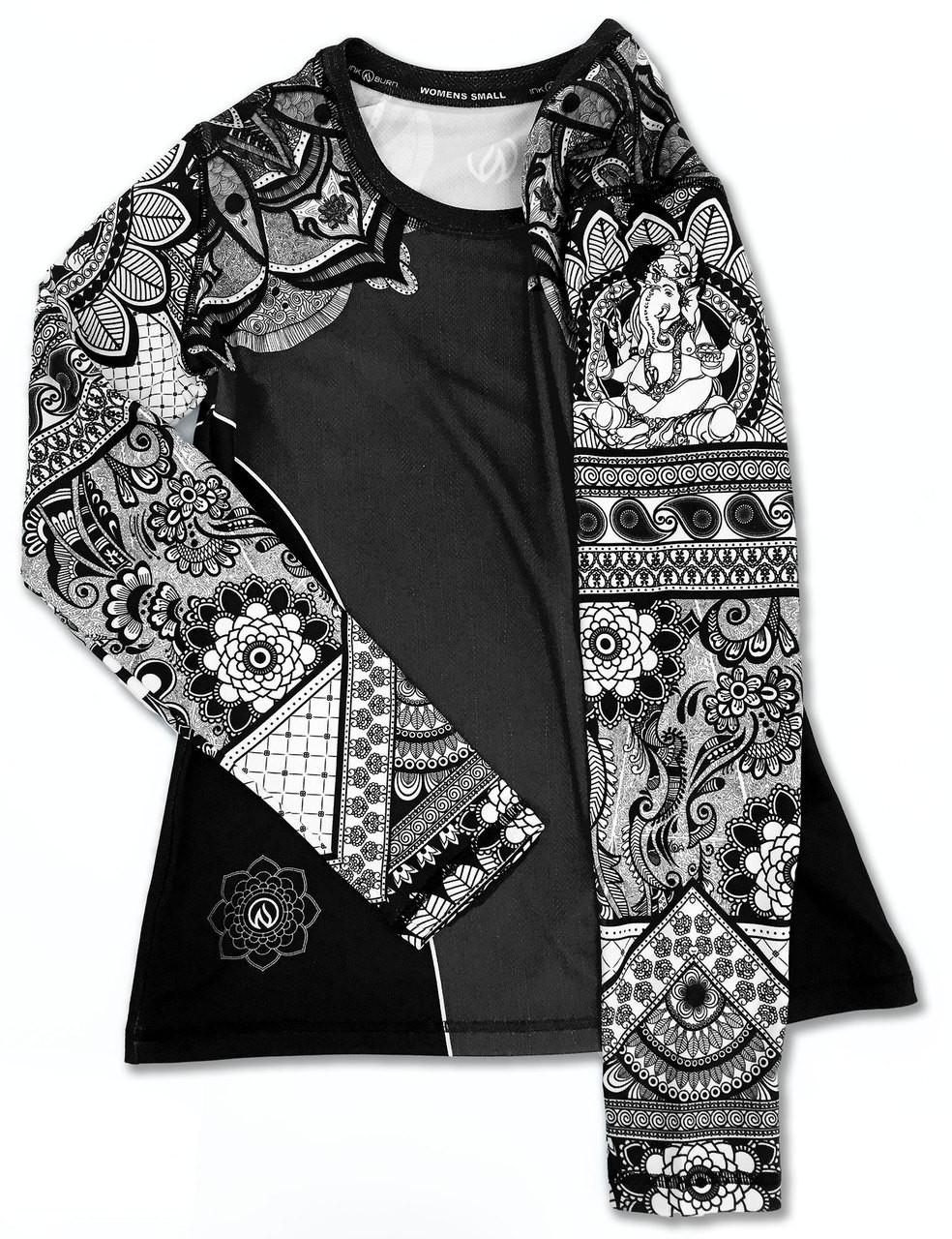 INKnBURN Women's Healing Mandala Long Sleeve Tech Shirt Front