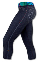 INKnBURN Women's Rose Capris Left Side with Waistband folded down.