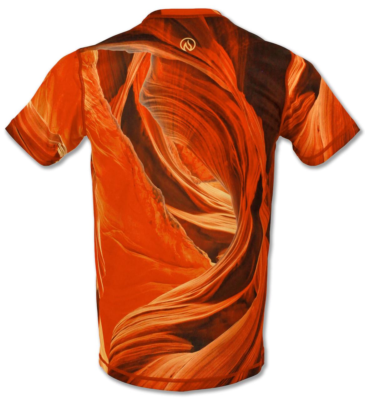 INKnBURN Men's Sandstone Tech Shirt Back