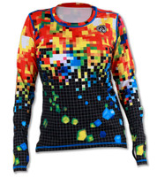 INKnBURN Women's Club INB Pixel Pullover with Thumbholes Front