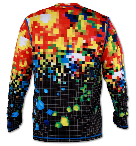 INKnBURN Men's Club INB Pixel Pullover with Thumbholes Back