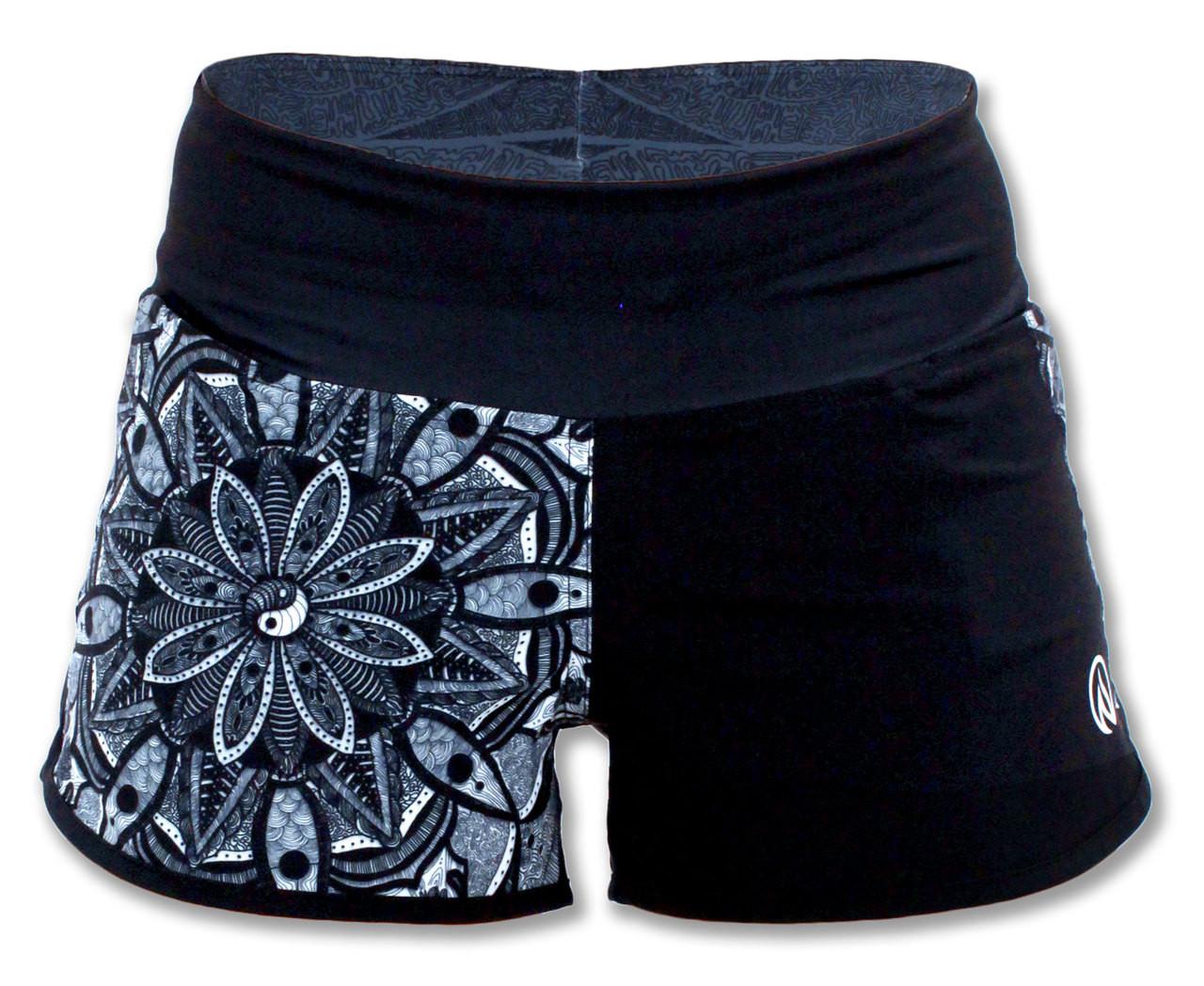 INKnBURN Healing Mandala Shorts Front Waistband Up